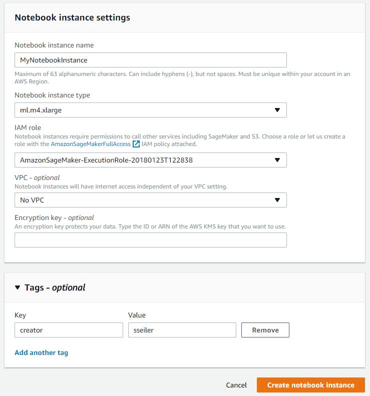 AmazonSageMaker Beispielbild