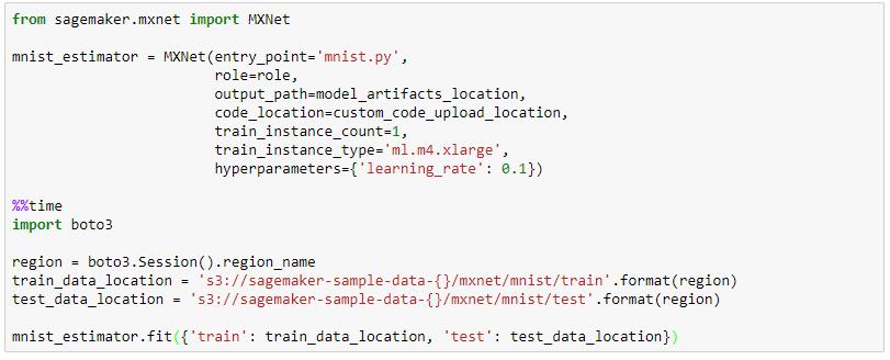 AmazonSageMaker Python Beispielbild