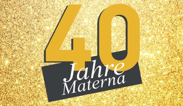 Herzlichen Glückwunsch zu 40 Jahren Materna
